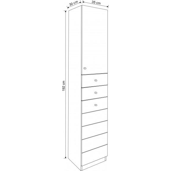 PVC Bathroom Column:  ICP AC 002 W