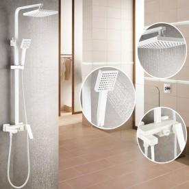 Shower set ICT 6891W MATT WHITE
