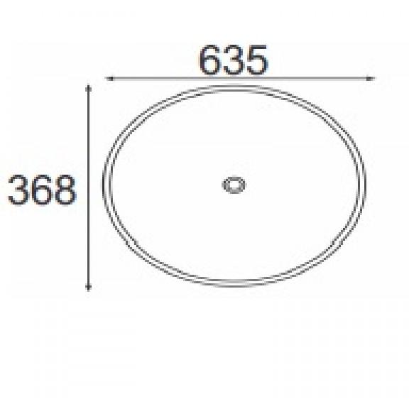 Порцеланов умивалник  ICC 5038