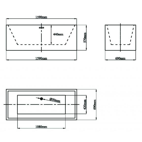 Вана  ICSH LB 1651  - Свободно стоящи вани