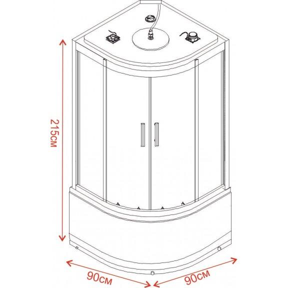 Хидромасажна кабина TANY ICSH 8179W NEW EASY ASSEMBLE  - Хидромасажни душ кабини