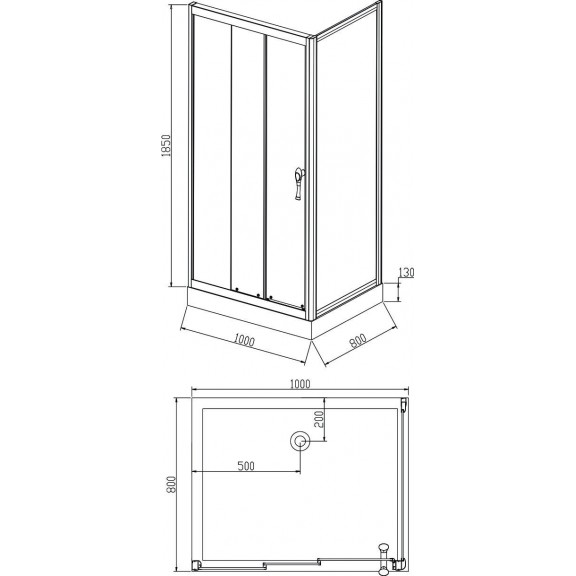 Shower Cabin - ICL 1302 R