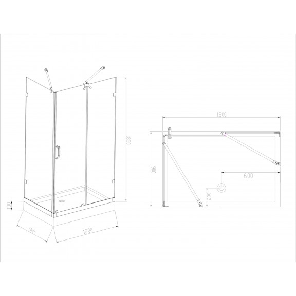 Shower Cabin - ICL 1501 L
