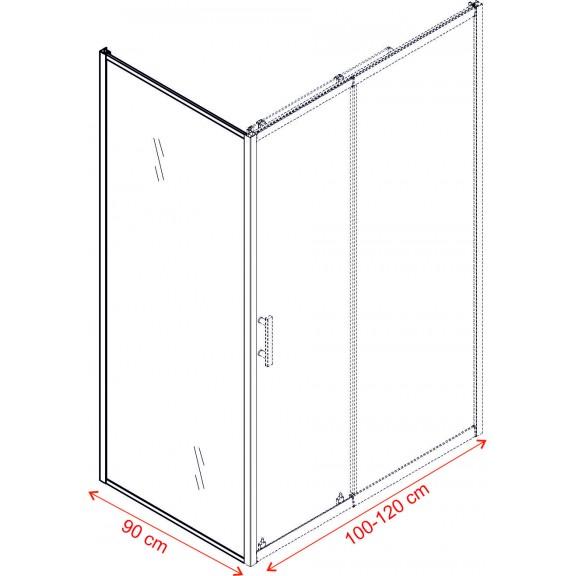 Shower Cabin - ICS 119/100NEW + ICS 111FS/90